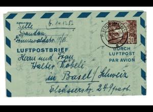 Luftpostfaltbrief Mi.-Nr. LF 3 gelaufen