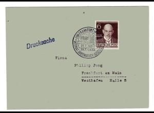 Orts-Drucksache mit EF. Mi.-Nr. 93
