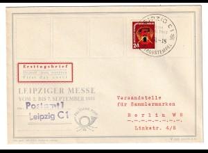 DDR-FDC: Erster Fünfjahrplan 1951