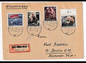 DDR: Umbenennung Chemnitz in Karl-Marx-Stadt 1953