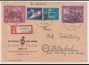 DDR-FDC: Lpz. Frühjahrsmesse 1950, gelaufener R-Brief