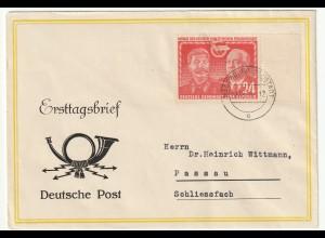 DDR-FDC: Stalin/Pieck 24 Pfg.