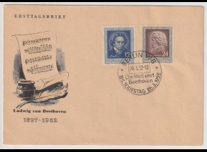 DDR-FDC: Beethoven (1952);
