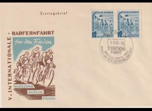 DDR-FDC: Friedensfahrt (1952);