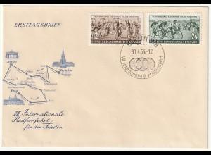 DDR-FDC: Friedensfahrt (1954);