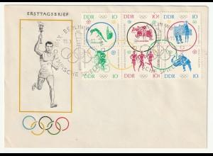 DDR-FDC:Olymp. Spiele Tokio Zusammendruck