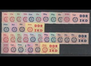 DDR Laufkontrollzetter 1. und 2. Serie komplett, ** (MNH)