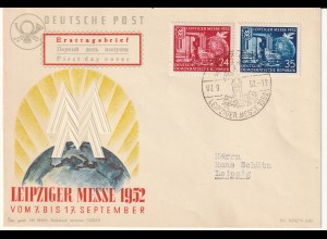 DDR-FDC: Lpz. Herbstmesse (1952)