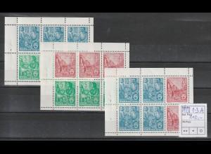 DDR Heftchenblätter 1 - 3 A, ** (MNH)