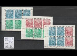 DDR Heftchenblätter 1 - 3 B, ** (MNH)