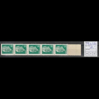 DDR Ulbricht 10 Pfg. Rollenmarke im 11er-Streifen, ** (MNH)