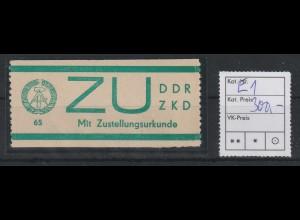 DDR-ZKD Zustellurkunde E1, **, Befund Mayer