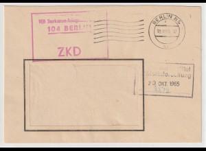 DDR-ZKD: Kastenstempel vorschriftswidrig in rot