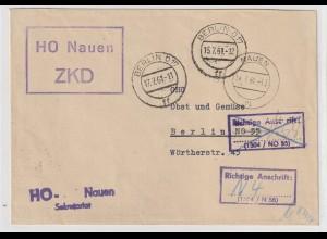 DDR-ZKD: 2-fach durch ZKD-Kontrolle korrigierte Anschrift