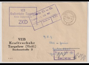 ZKD-Brief: Durch ZKD-Kontrolle korrigierte Anschrift