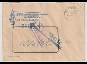 """ZKD-Brief: """"Zurück"""" - """"Seit 1961 kein VEB"""""""