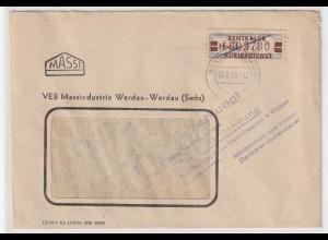 ZKD-Brief: frankiert mit 21H, Hinweisstempel zur Aufbewahrung