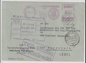 ZKD-Brief: ZKD-Freistempel mit Losung, Hinweisstempel zur Aufbewahrung
