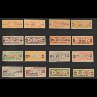 DDR ZKD 16 - 31, ** (MNH)