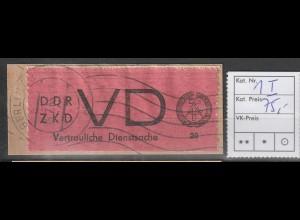 DDR ZKD D 1 mit Plattenfehler I, gest.