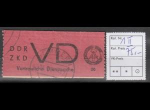 DDR ZKD D 1 mit Plattenfehler II, gest.