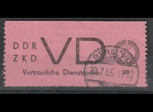 DDR ZKD D 2, gestempelt, Michelwert 350,00