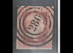 Preußen Nummernstempel: Nr. 1 / 280 (Kreuznach), gepr.