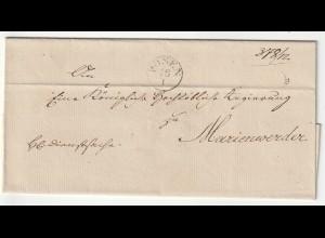 Vorphilatelie Briefhülle - von Posen nach Marienwerder, schönes Siegel