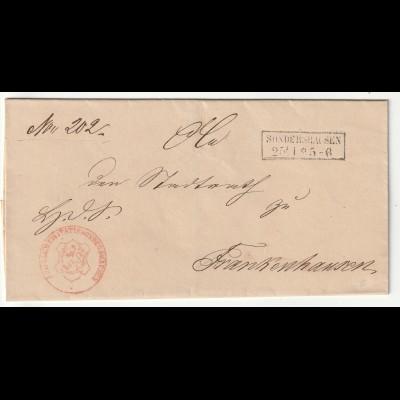 Vorphilatelie Briefhülle - von Sondershausen nach Frankenhausen, einwandfrei