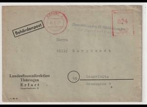 """DDR: Losungsstempel """"Vorwärts zu den III. Weltfestspielen..."""""""