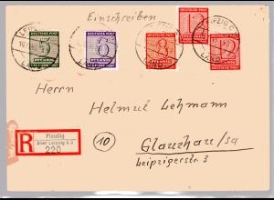 Eingeschriebener-Satzbrief mit Mi.-Nr. 120 - 123 X, Sign. StröhBPP.