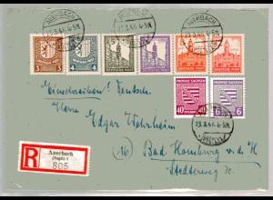 Eingeschriebener-Fernbrief mit Mi.F. Mi.-Nr. 157 y ua., Sign. StröhBPP.
