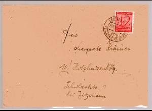 Ortsbrief mit EF. Mi.-Nr. 123X, Sign. StröhBPP.