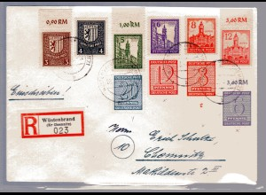 Eingeschriebener-Fernbrief mit Mi.F. Mi.-Nr. 156-161 X ua., Sign. StröhBPP.