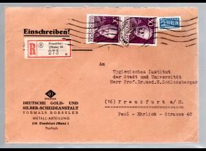 Berlin, Eingeschriebener-Ortsbrief mit Me.F. Mi.-Nr. 99, Mit AK-St.
