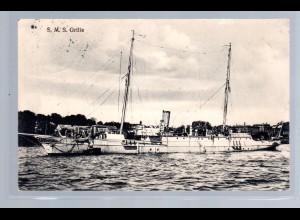 Marine-Schiffspost Nr. 209, als Feldpostkarte SMS Grille