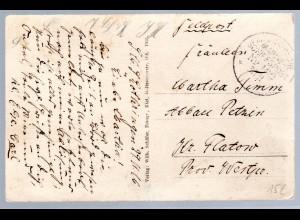 Marine-Schiffspost Nr. 162, als Feldpostkarte SMS Lothringen