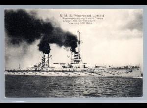 Marine-Schiffspost, SMS Prinzregent Luitpold als Feldpost-Karte.
