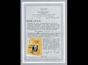 DDR, Mi.-Nr. 339 xb XI, gestempelt auf PKA, FA. Paul.