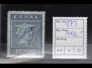Griechenland, Mi.-Nr. 173 ungebraucht.