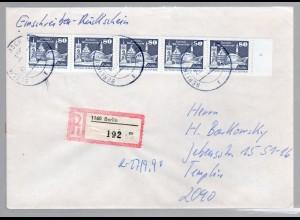 DDR, Einschreiben mit Rückschein MeF. Mi.-Nr. 2650