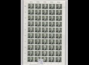DDR, kompletter Bogen Mi.-Nr. 622 b Postfrisch.