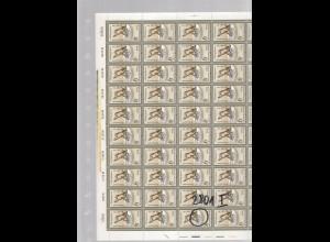 DDR, kompletter Bogen Mi.-Nr. 2801 Postfrisch, mit 2801 I.