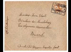Etappe West: Sauberer Bedarfsbrief mit MiNr. 5