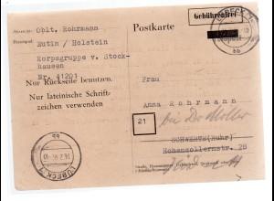 Karte der Korpsgruppe v. Stockhausen. Seltenes Zeitdokument.