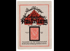 Ereigniskarte: Flensburger Briefmarken Ausstellung 1947