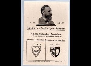 Ereigniskarte: Kieler-Briefmarken-Ausstellung 1947