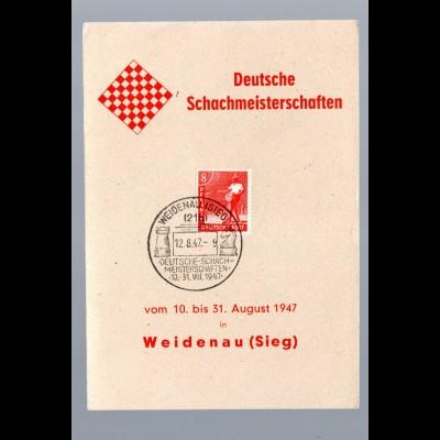 Ereigniskarte: Deutsche.Schachmeisterschaften 1947