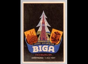 """Ereigniskarte: """"BUGA"""" - Export Schau Freiburg 1947"""