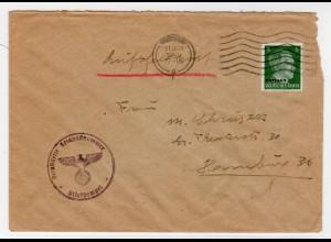 Feldpostbrief mit 5-Pfennig Luftpost-Frankatur (Ostland)